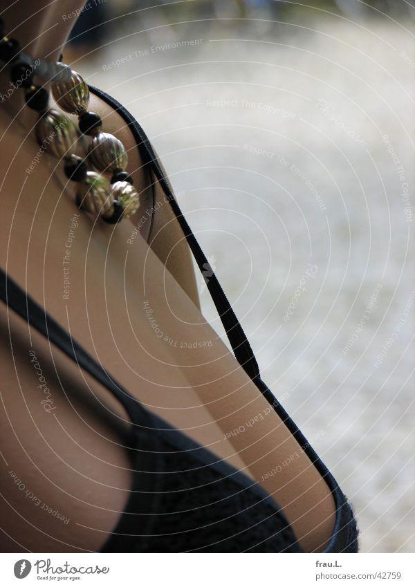 schön + kalt Schaufensterpuppe Träger Kleid feminin Frau Reichtum Dekoration & Verzierung Frauenbrust Kette Puppe gestellt Sommer