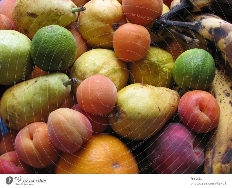 Öko-Obst Pfirsich Aprikose Zitrone Banane Gesundheit lecker ökologisch Vitamin Obstschale Ernährung Frucht Limone ökologischer landbau orange Birne Apfel