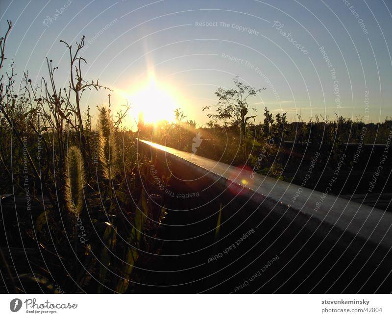 Sonnenuntergang in Serbien Natur Gleise