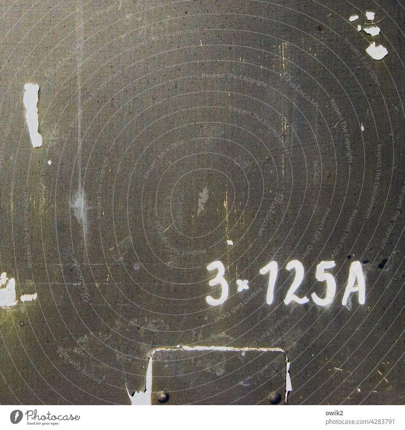 Schriftstück Ziffern & Zahlen unklar einfach Detailaufnahme Menschenleer Textfreiraum oben Zahn der Zeit vage ungefähr ungenau alt trashig Oberflächenstruktur