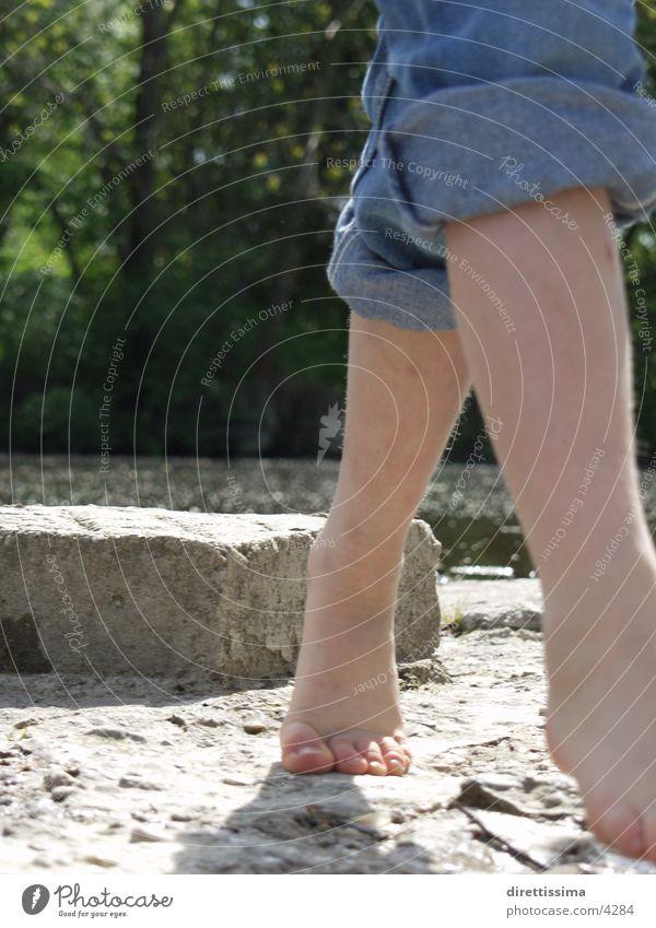 Füsse Mensch Kind Wasser Fuß