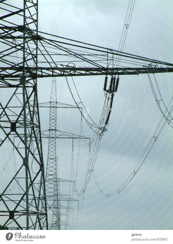 Stromstrasse Strommast Elektrizität Hochspannungsleitung Industrie Energiewirtschaft Wege & Pfade Stromweg