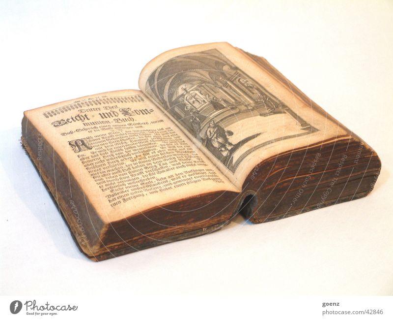 Antiquität alt braun Buch lesen Schriftzeichen Dinge Bibliothek Jahrhundert aufschlagen antiquarisch Pergamentpapier Gebetsbuch