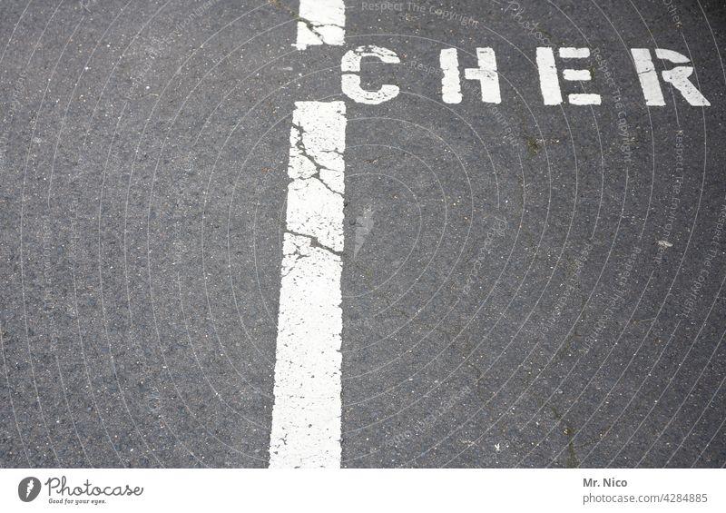 Privatparkplatz Asphalt Wort grau Schilder & Markierungen Wegweiser parkplatzmarkierung reserviert Hinweis Fahrbahnmarkierung Parkplatz Besucherparkplatz Straße