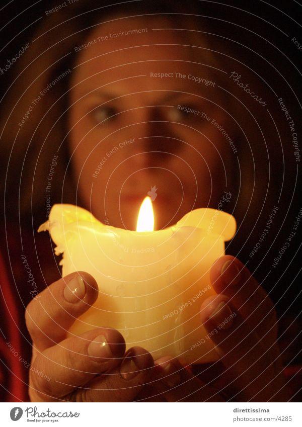daslicht2 Frau Mensch Brand Kerze Flamme
