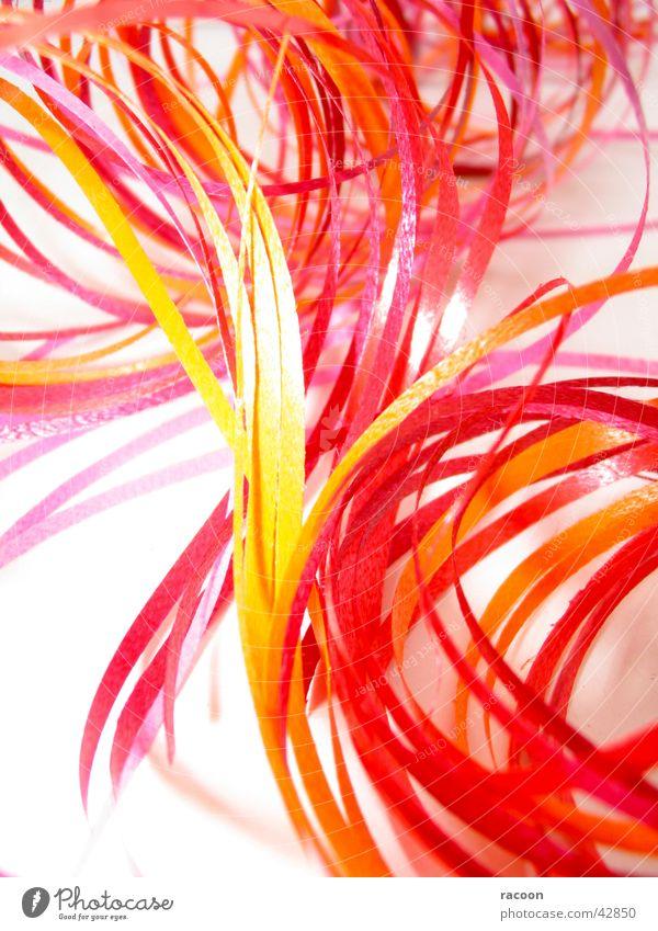 Geschenkbandverwirrung rot gelb rosa orange Schnur Dekoration & Verzierung