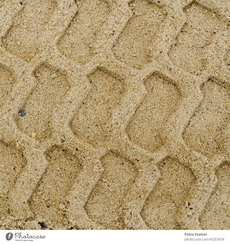 Spuren im Sand Strukturen & Formen Muster Strand Sandstrand Außenaufnahme hellbraun beige Einfarbig Menschenleer niemand