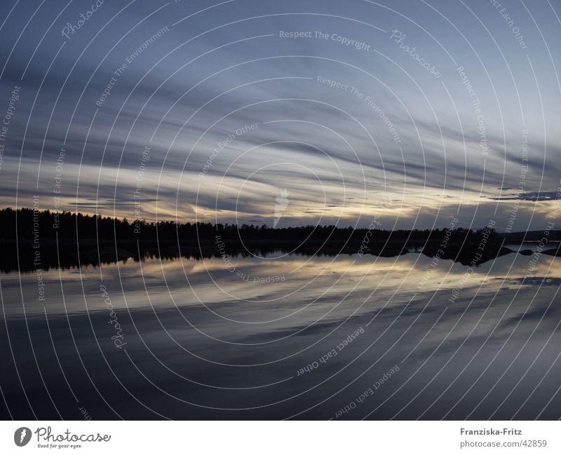 Der Himmel auf Erden Sonnenuntergang Reflexion & Spiegelung Wolken Baum ruhig Romantik See Europa Wasser Küste blau Felsen Insel Klarheit Schweden
