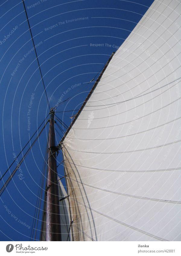 Segeltraum Meer Sommer Ferien & Urlaub & Reisen Wasserfahrzeug Wind Segeln Schifffahrt Strommast Blauer Himmel unterwegs