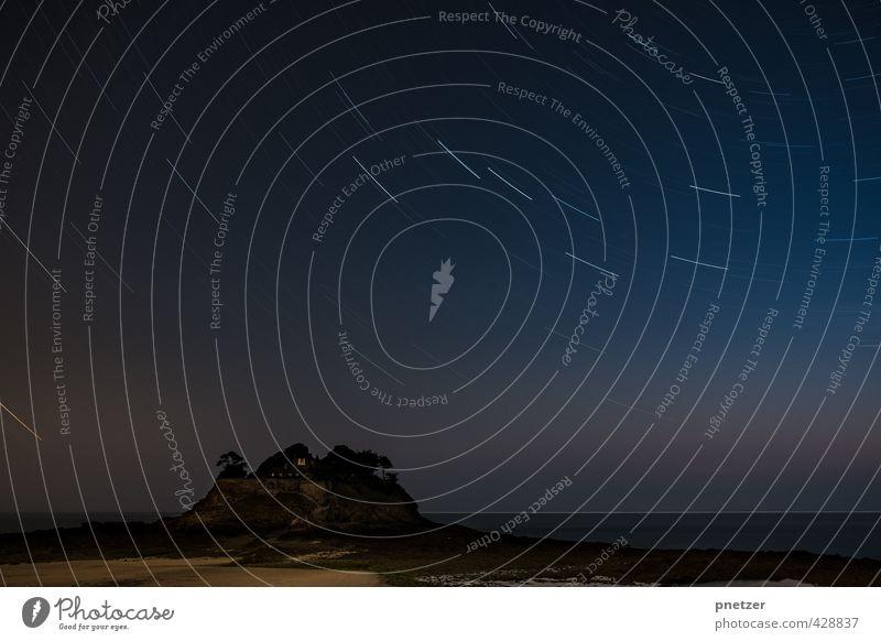 1800 Sekunden Umwelt Natur Landschaft Urelemente Sand Luft Wasser Erde Himmel Wolkenloser Himmel Mondfinsternis Sommer Klima Wetter Schönes Wetter Felsen Wellen