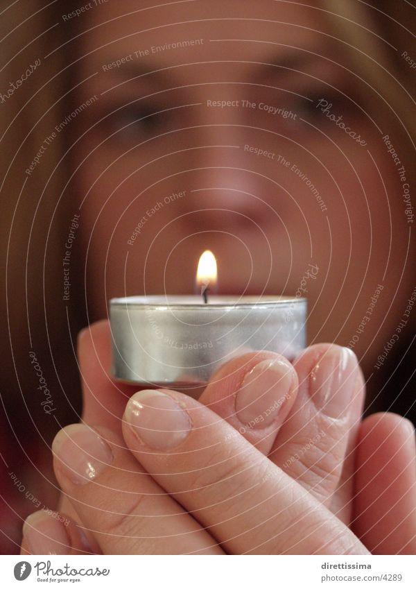 das licht Kerze Licht Frau Flamme