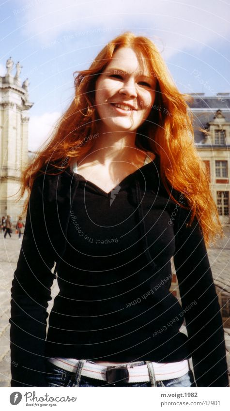 red haired Frau Mensch Jugendliche schön Freude Ferien & Urlaub & Reisen feminin Glück Erwachsene Fröhlichkeit natürlich Freundlichkeit langhaarig rothaarig Junge Frau