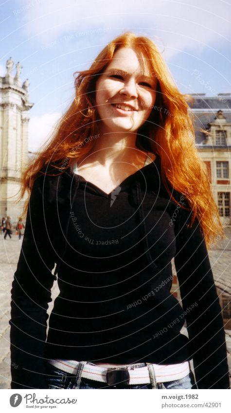 red haired Frau Mensch Jugendliche schön Freude Ferien & Urlaub & Reisen feminin Glück Erwachsene Fröhlichkeit natürlich Freundlichkeit langhaarig rothaarig