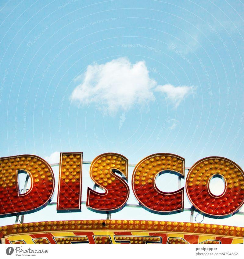 DISCO-Leuchtschild Disco Party Club Licht Tanzen Partygast Feste & Feiern Mensch Lichterscheinung Musik clubbing ausgehen Kunstlicht Neonlicht Neonlampe