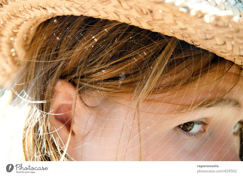 Sardinien, 40 Grad Ferien & Urlaub & Reisen Tourismus Ferne Sommer Sommerurlaub Sonne Sonnenbad Strand feminin Junge Frau Jugendliche Kopf Haare & Frisuren