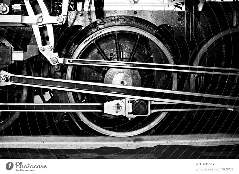 Dampflokomotive Lokomotive Antrieb Eisen historisch Museum
