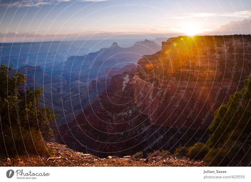 Cape Royal 2 Umwelt Natur Landschaft Himmel Wolken Sonne Sonnenaufgang Sonnenuntergang Sonnenlicht Sommer Berge u. Gebirge Schlucht wild Grand Canyon North Rim