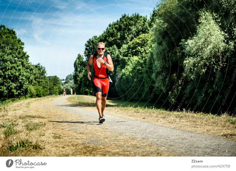 Triathlon | AK 60 | Running Himmel Mann Sommer Landschaft Senior Sport Wege & Pfade maskulin Kraft laufen Schönes Wetter Sträucher 60 und älter Laufsport einzigartig Männlicher Senior