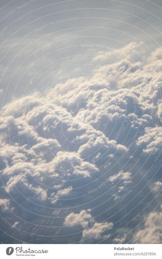 #A0# Wolkendecke Wolkenhimmel Wolkenformation wolkenlandschaft Wolkenfeld Wolkenschleier Flugzeugausblick Außenaufnahme Himmel