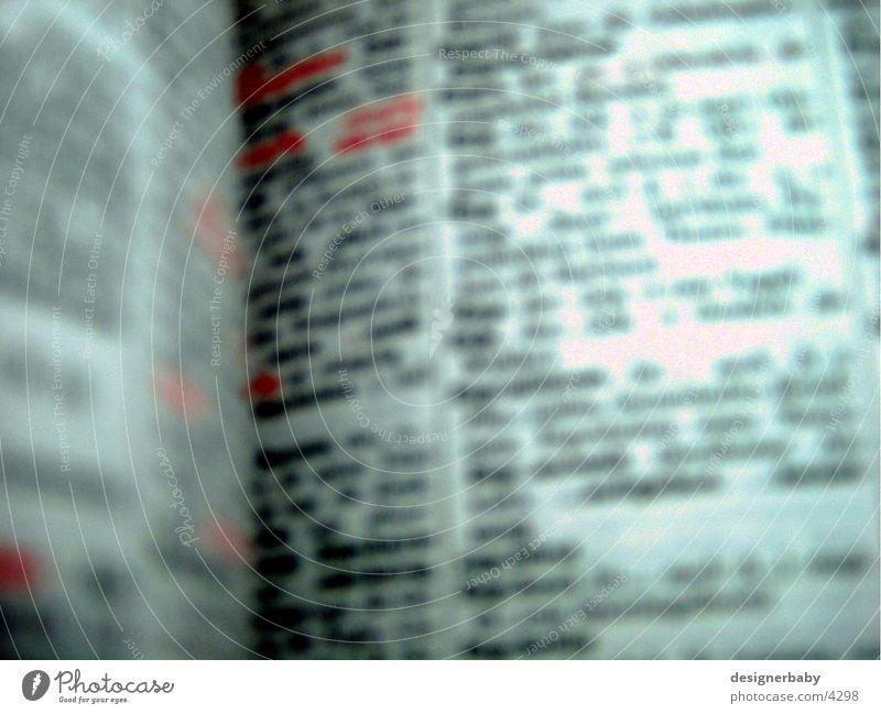 typo Typographie Buch Wort Buchstaben lesen Fototechnik Schriftzeichen