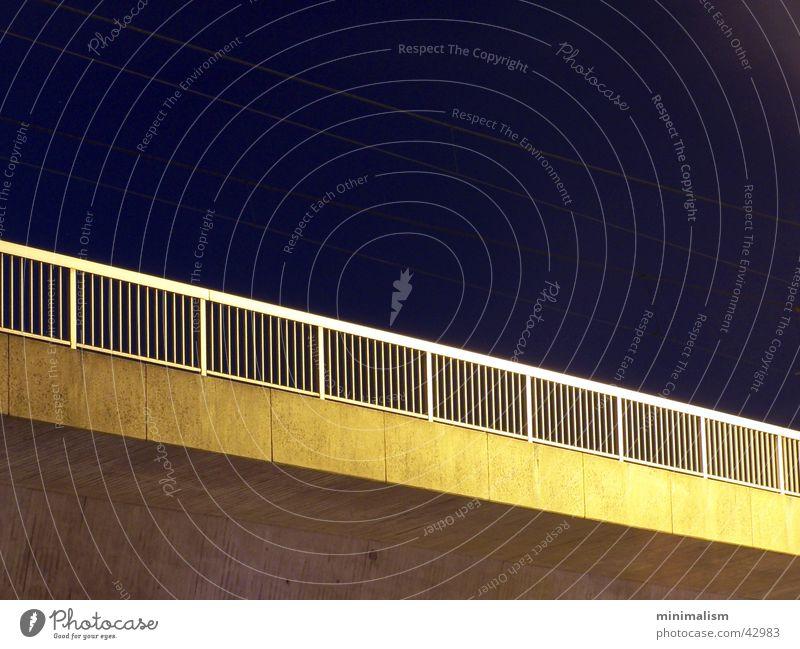 minimalism Langzeitbelichtung Nachthimmel Brücke Geländer