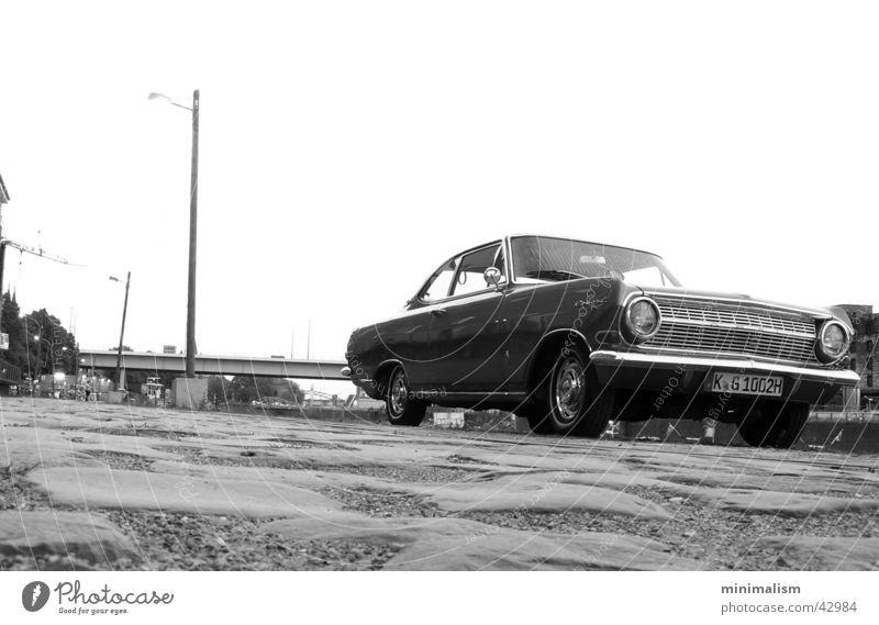 damals.. Coupé Froschperspektive Verkehr opel Rekord rekord a 1964