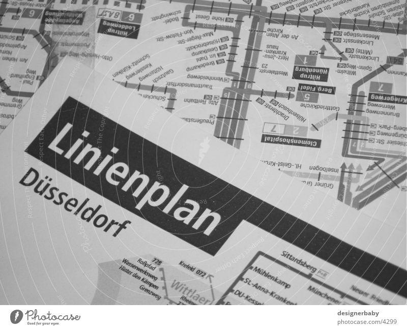 plan Stadt Verkehr Dinge linienplan Netz Düsseldorf Eisenbahn Bus