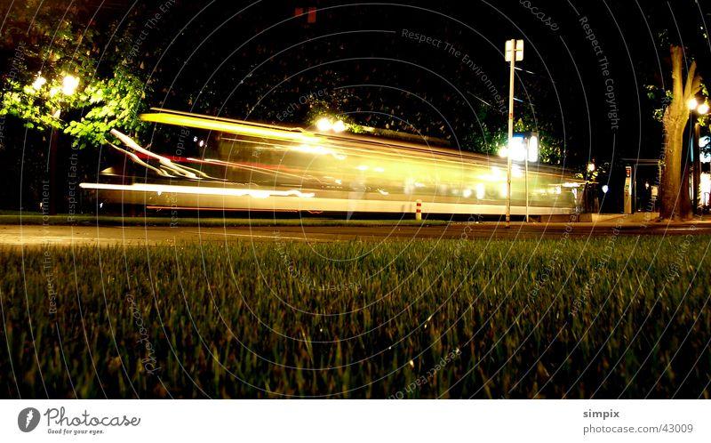 Strasbourg de nuit II Straßburg Nacht Straßenbahn Langzeitbelichtung Brücke Place de la République