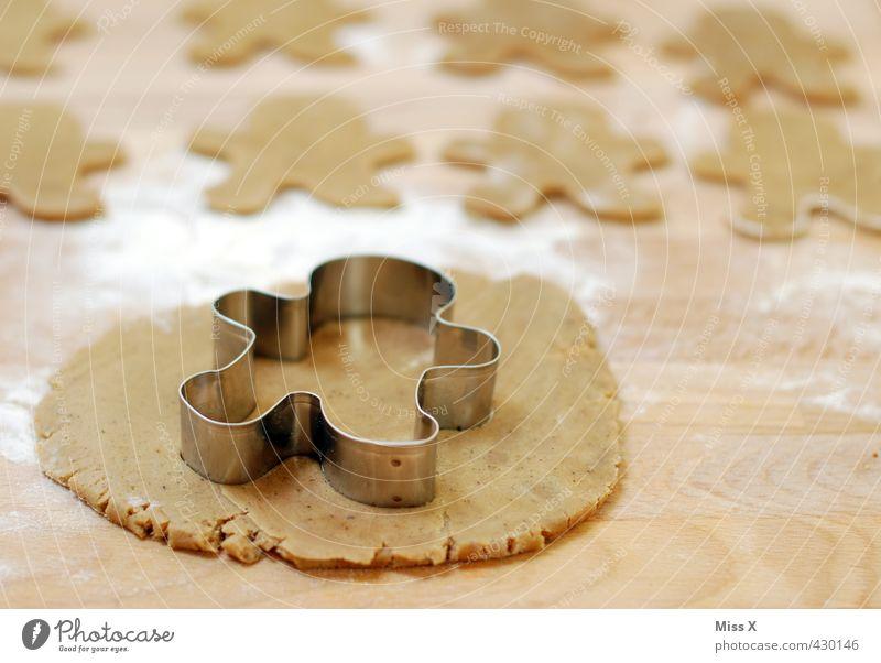 Lebkuchenmännchen Mann Lebensmittel Ernährung Kochen & Garen & Backen süß viele lecker Backwaren Teigwaren roh Plätzchen Mehl Weihnachtsgebäck stechen