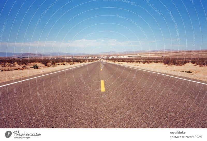 next to las vegas Nevada Las Vegas Physik Verkehr Straße USA Autobahn Road Wärme Sonne street
