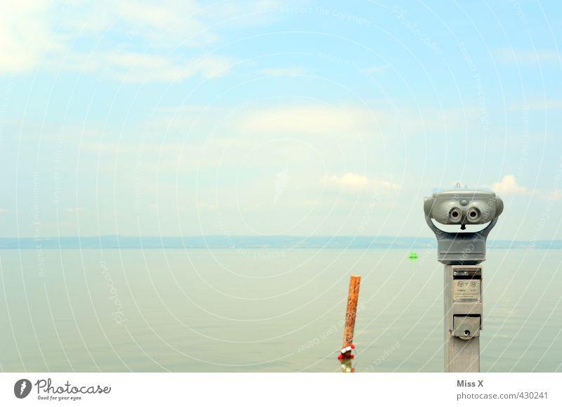 Aussichtsplatz Himmel Ferien & Urlaub & Reisen Wasser Sommer Meer ruhig Ferne Küste Freiheit See Horizont Stimmung Freizeit & Hobby Wellen Tourismus