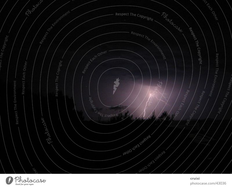 Blitz 2 Blitze Donnern dunkel Nacht Wolken Unwetter Sturm Kroatien Gewitter