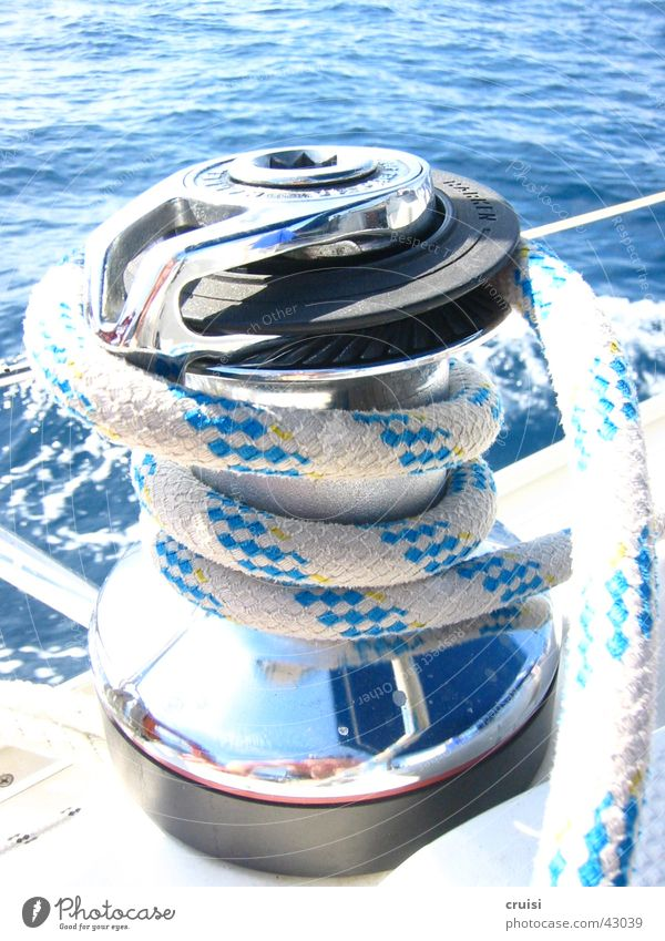 Strippenzieher Segeln Seil Meer Sport Wasser Segel setzen Adria blau