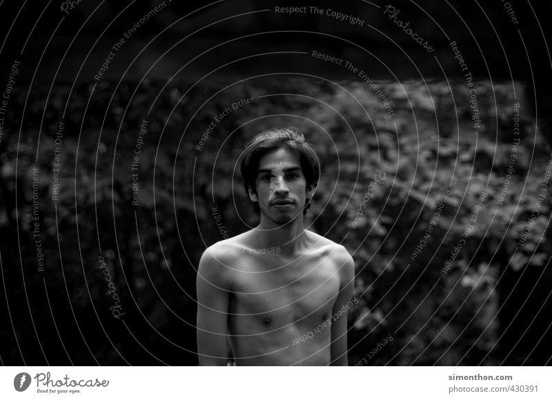 Portrait Natur Ferien & Urlaub & Reisen Jugendliche nackt Junger Mann Einsamkeit ruhig 18-30 Jahre Erwachsene Umwelt Leben Freiheit Stimmung träumen