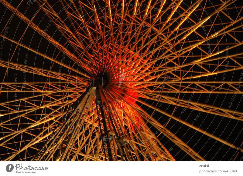 Riesenrad Nacht Jahrmarkt Mitte Nabe Freizeit & Hobby Metall Baugerüst Technik & Technologie Libori