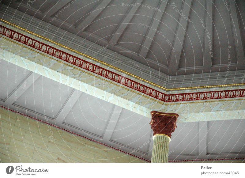 Church in Marmor rot grau Religion & Glaube Kunst Säule Decke Marmor Gotteshäuser