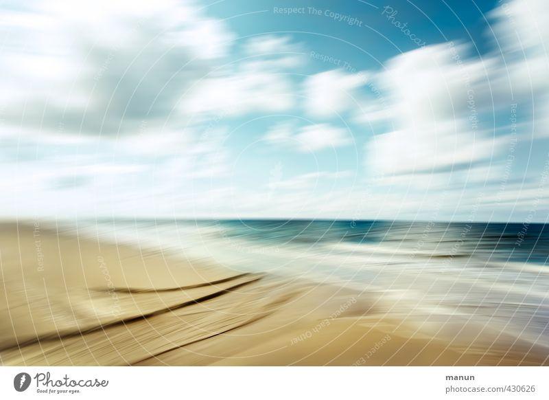 frische Brise Ferien & Urlaub & Reisen Ferne Natur Landschaft Urelemente Sand Luft Wasser Himmel Wolken Horizont Klima Wetter Schönes Wetter Wellen Küste Strand