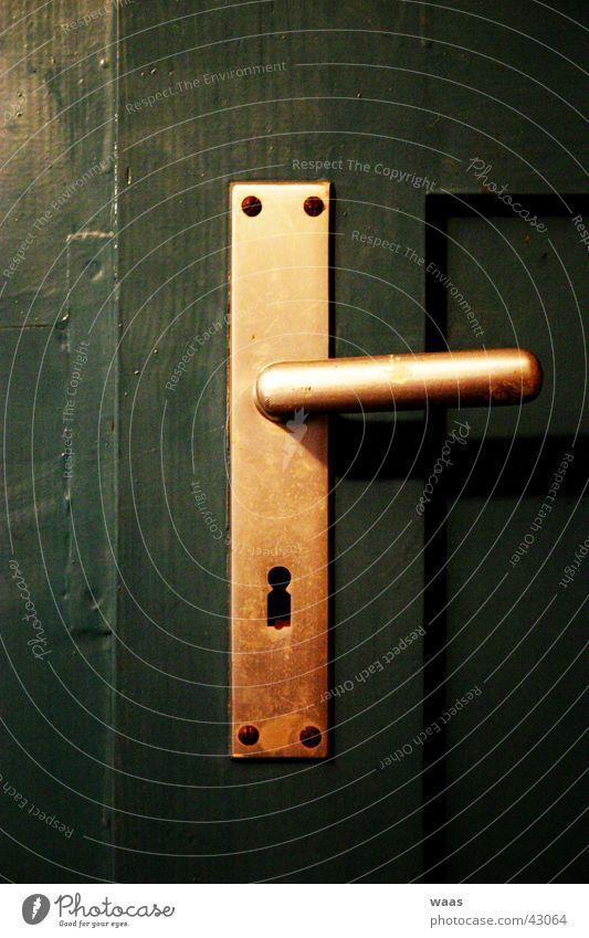 Türklinke Griff Schlüssel aufmachen Eingang Schlüsselloch Dinge Burg oder Schloss
