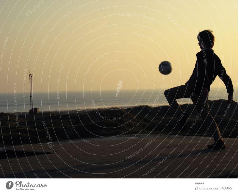 Schattenfußball Mensch Himmel Meer Fußball Dach