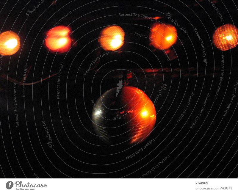 Discokugel dunkel Party orange Disco Freizeit & Hobby