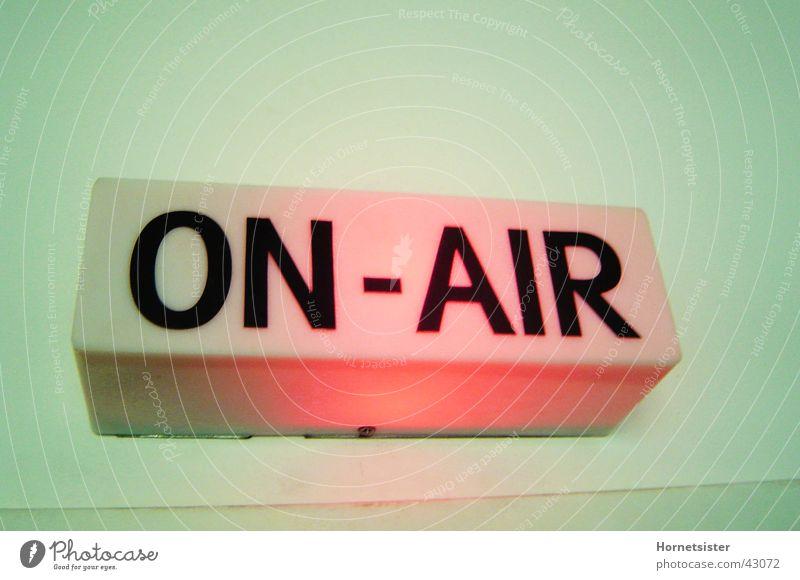 On Air Studio Lampe Fotografie Werkstatt Radio Rundfunksender Rundfunksendung