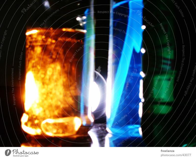 Lichter_1 grün blau Farbe orange obskur Schlauch Spülmittel