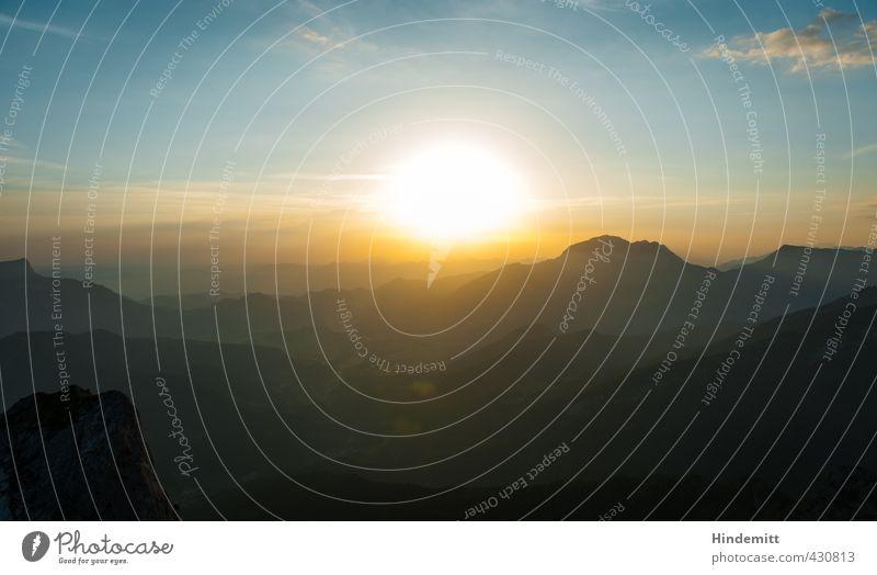 """""""Es war dieses somit ein herrlicher Sonnenaufgang."""" II Tourismus Ausflug Abenteuer Sommer Berge u. Gebirge Himmel Wolken Schönes Wetter Felsen Alpen Gipfel"""