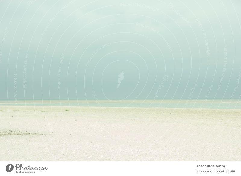 Blue Cream Beach Ferien & Urlaub & Reisen Ferne Sommerurlaub Umwelt Natur Landschaft Sand Luft Wasser Himmel Wolken Wetter Küste Strand Nordsee Unendlichkeit