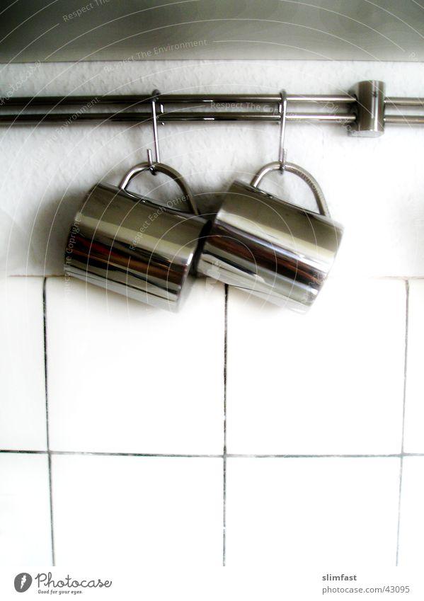 2 Tassen Küche Fliesen u. Kacheln Haushalt Aluminium Haken