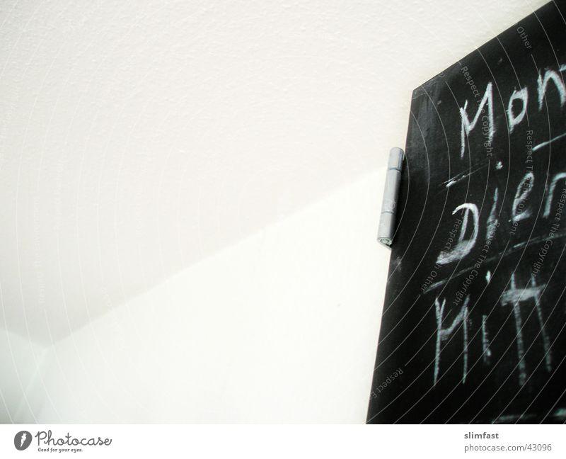 MoDiMi Schilder & Markierungen Küche Kalender Kreide Handschrift Wochentag