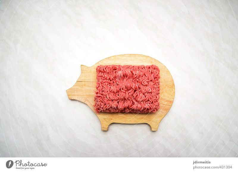 Hack Holz Lebensmittel Ernährung Surrealismus Fleisch Mittagessen Nutztier Schneidebrett