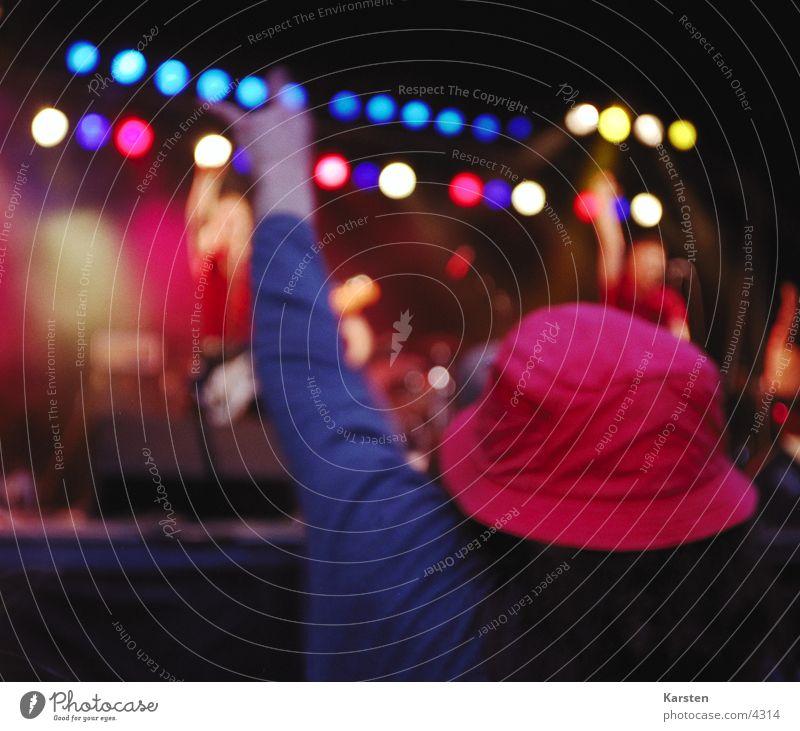 let it rock Mensch Musik Konzert Rockmusik Hut Bühne Fan Musikfestival