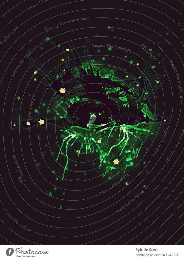 radioaktiv Bakterien Tumor Wachstum krebsartig Krebs grünes Glühen Radio aktiv tödlich abwesend Krankheit Medizin Coronavirus Seuche Pandemie Virus Gesundheit