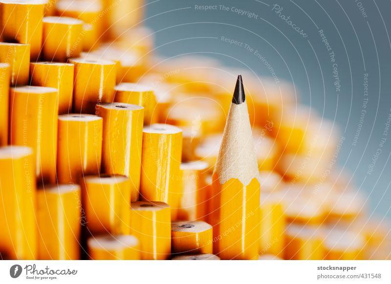 gelb Holz außergewöhnlich einzeln einzigartig Scharfer Gegenstand Stillleben Verschiedenheit Entwurf Single Bleistift stechend beste Objektfotografie bereit